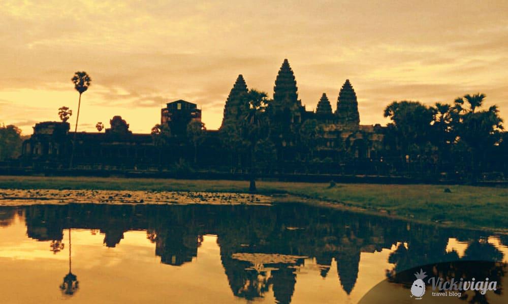 Ein traumhafter Sonnenaufgang in Angkor Wat, Kambodscha