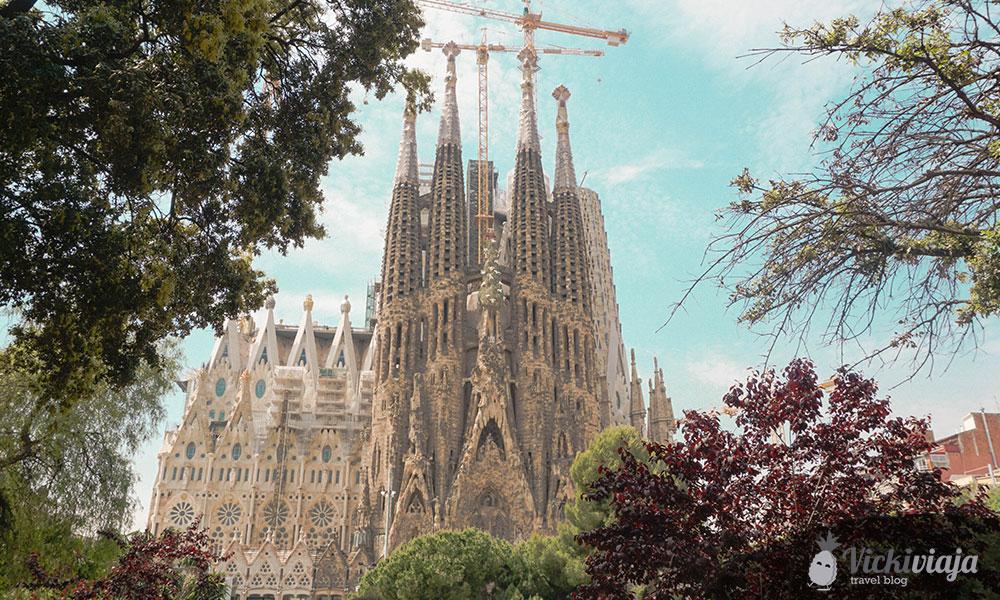 Die berühmte Sagrada Família in Barcelona