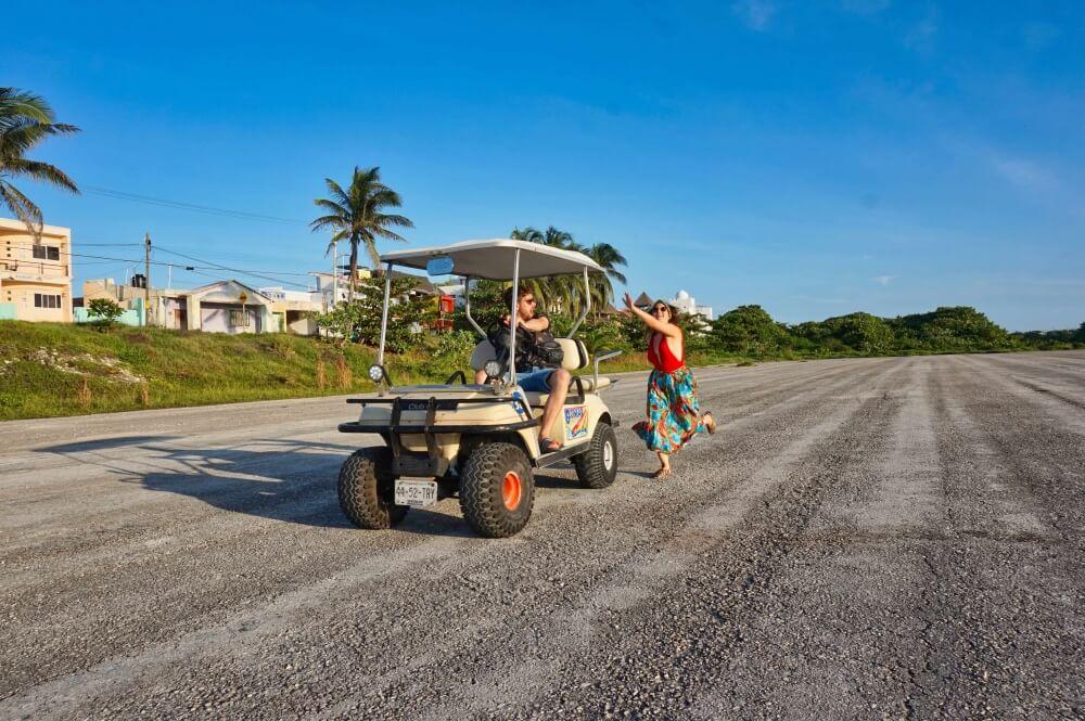 Auf der Isla Mujeres haben wir und ein Golf Cart gemietet, sind den ganzen Tag über die Insel gedüst und haben richtig viel Quatsch gemacht und gelacht. Besonders cool war die Zeit, da wir uns endlich während Maries Auslandssemester in Mexiko wiedergesehen haben.