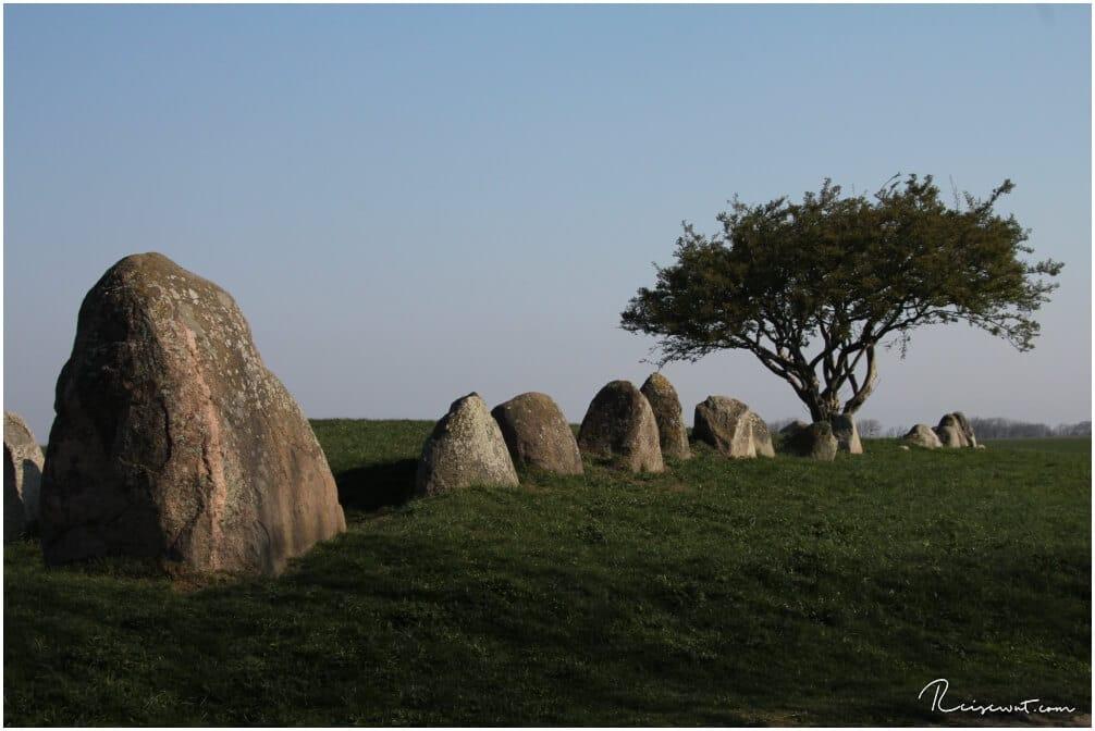 Das Hühnengrab Riesenberg auf Rügen hat einige interessante Felsmonolithen zu bieten