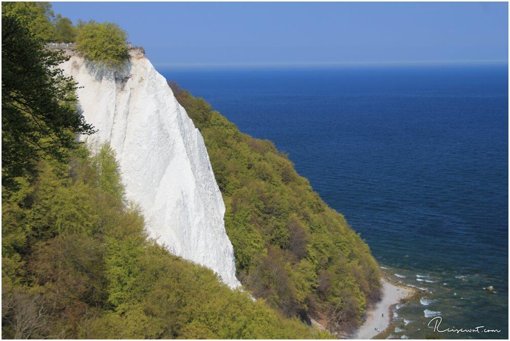Die weiße Kalksteinformation am Königsstuhl ist einer der bekanntesten Sehenswürdigkeiten auf Rügen