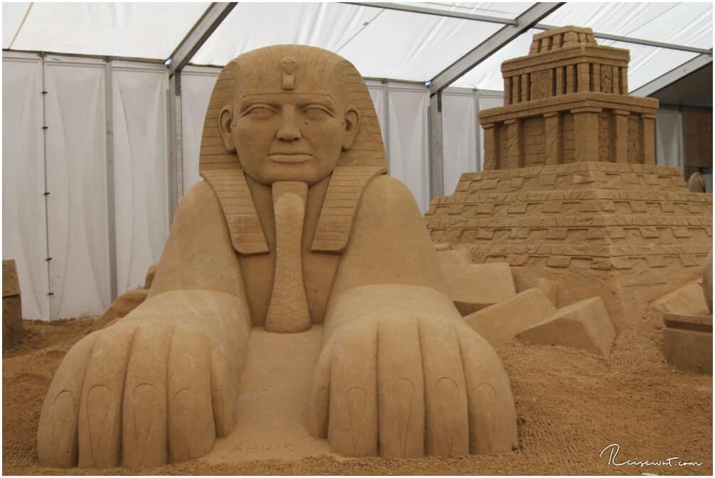 Sandskulpturen Festival Rügen, hier wurde die Sphinx nachgebaut
