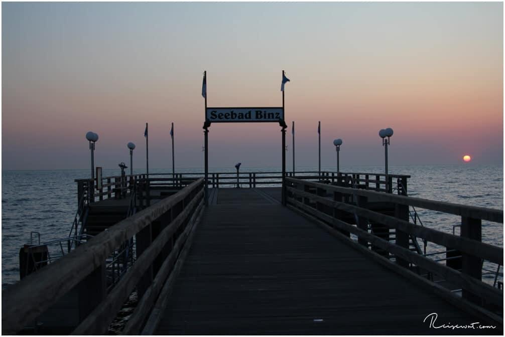 Die Seebrücke in Binz bei Sonnenaufgang hat man meistens ganz für sich allein