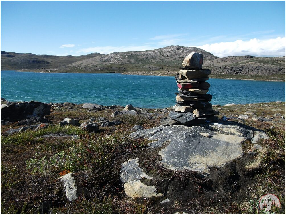 Wegmarkierung am Arctic Circle Trail