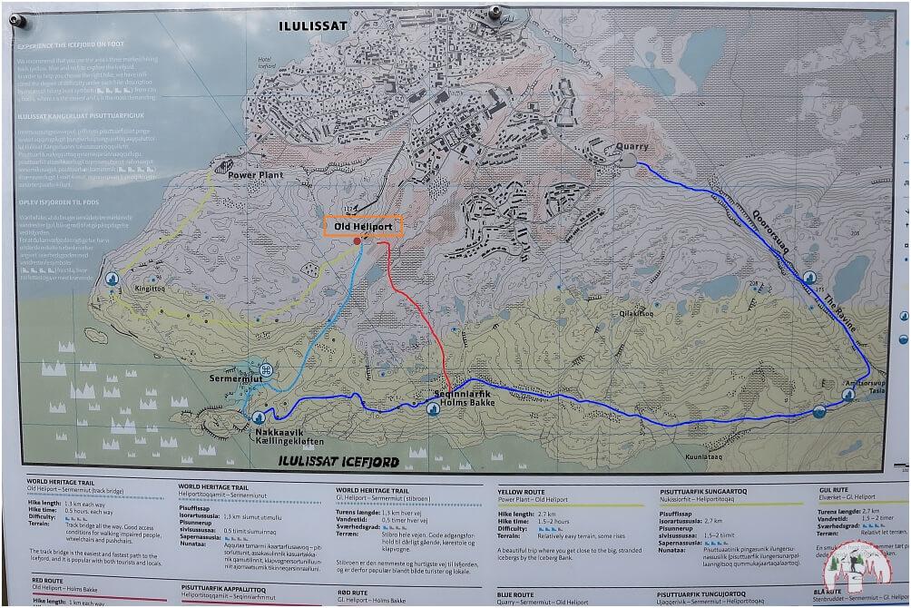 Ilulissat Eisfjord Karte