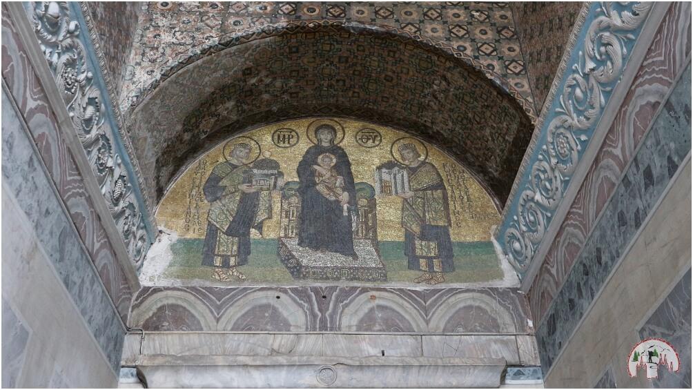 Mosaik des Jesuskinds in der Hagia Sophia Istanbul
