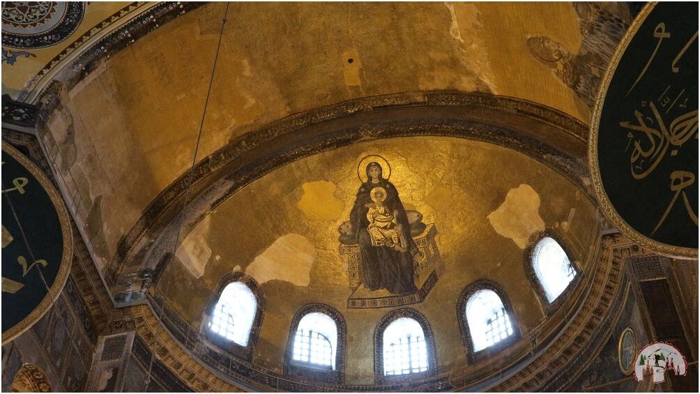 Mosaik von Maria mit Jesus