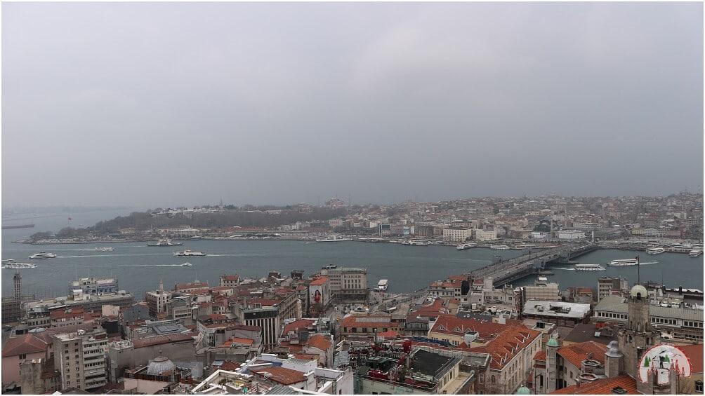Die Aussicht vom 67m hohen Galata Tower