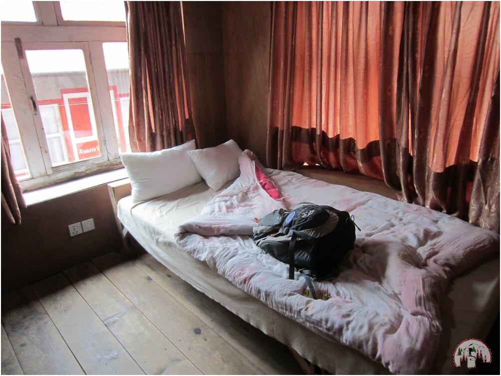 Mein Zimmer in der Phakding Lodge auf dem Everest Trek