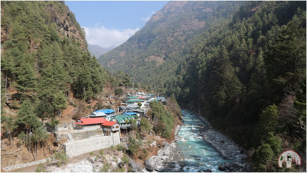 Dorf auf dem Everest Trek to Namche