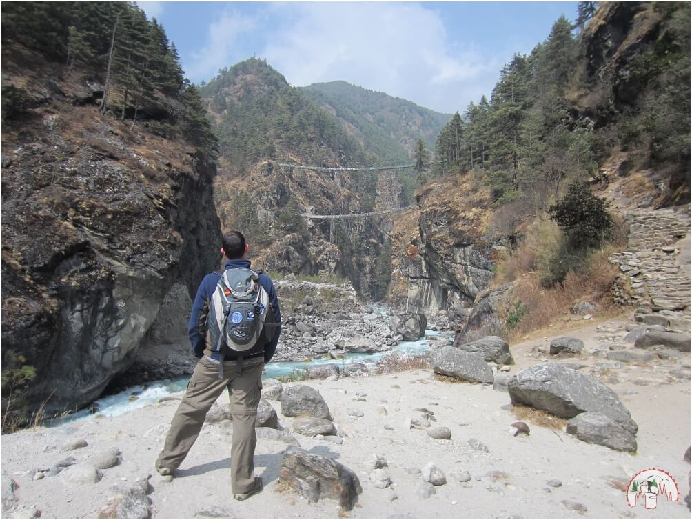 Edmund Hillary Bridge Everest Trek to Namche