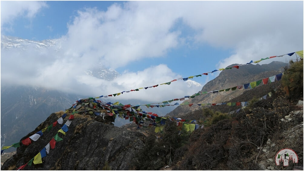Gebetsfahnen Prayer flags Namche Bazar