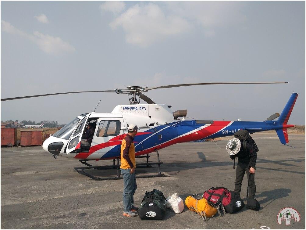 Helikopter in Kathmandu