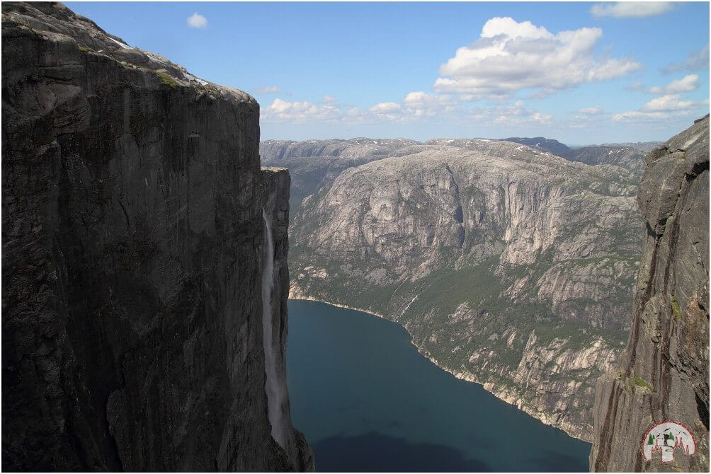 Wasserfall beim Kjeragbolten