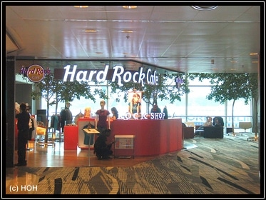 Hard Rock Cafe am Flughafen Singapore