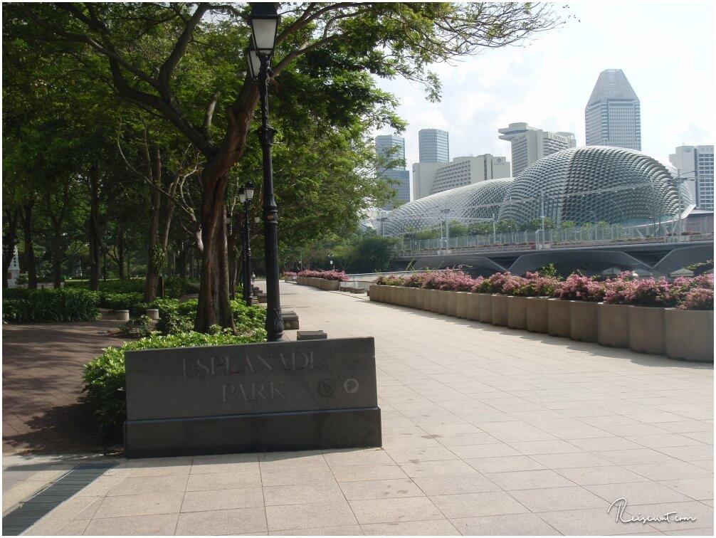 Kurze Eindrücke vom Esplanade Park in Singapur