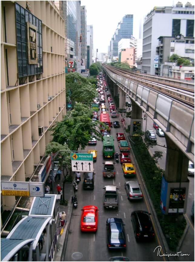 Verkehrschaos in Bangkok