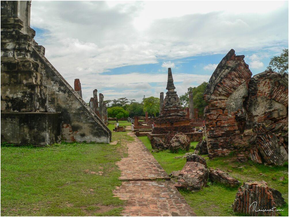 Wat Phra Si Sanphet in Ayutthaya, die Ruinenstadt