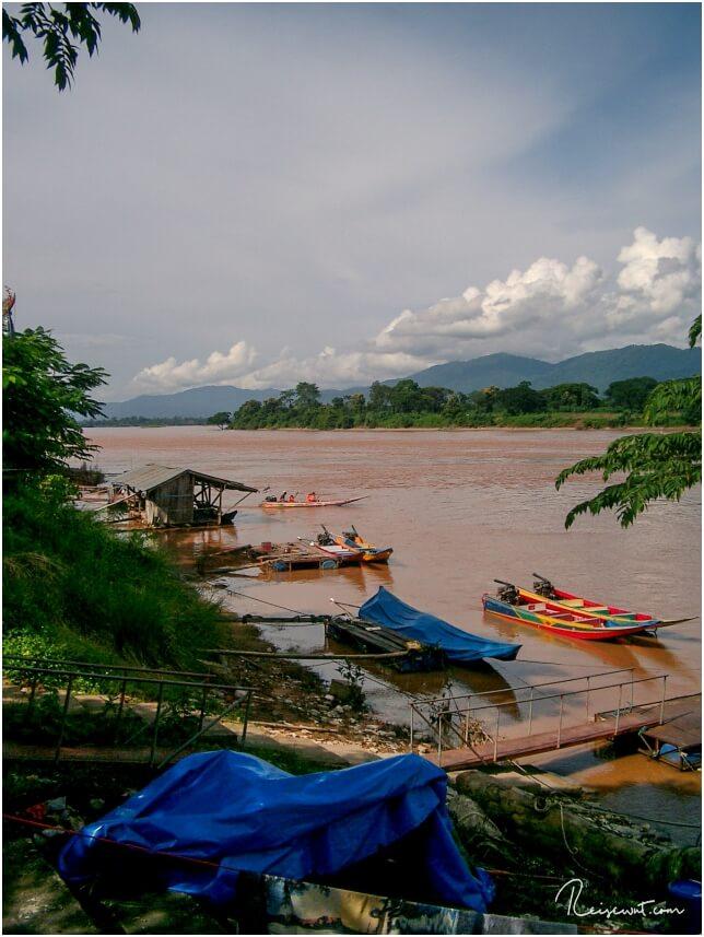 Fahrt auf dem Mekong