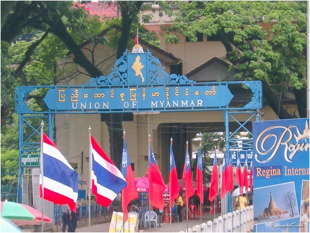 Der Grenzübergang zu Myanmar