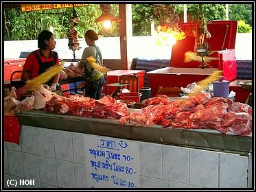 Fleisch auf dem Markt