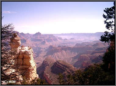 Einer der Scenic - Points am Grand Canyon