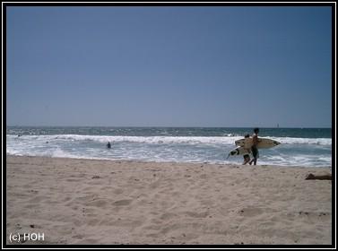 Surfer am Strand von Malibu