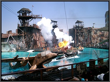 Die Waterworld Stunt Show in den Universal Studios Los Angeles