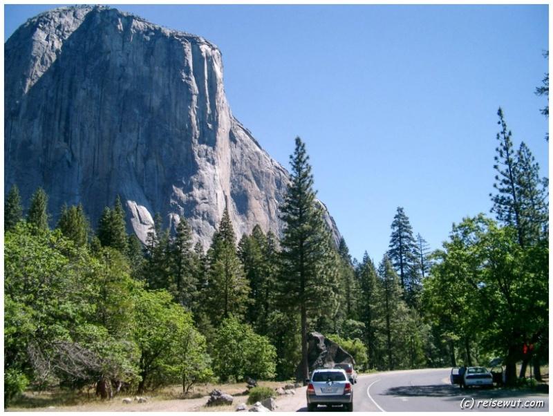 Traum vieler Kletterer hier im Yosemite National Park ist der El Capitan