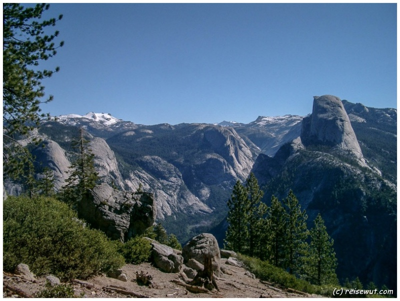 Aussicht vom Glacier Point im Yosemite National Park
