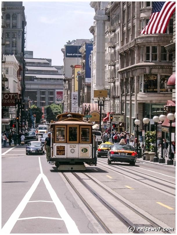 Typisches Stadtbild in San Francisco