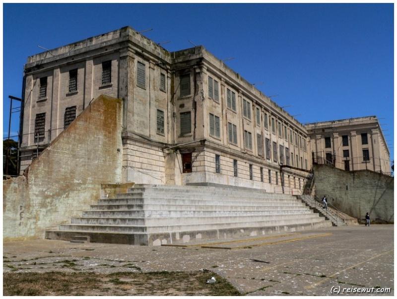 Der Innenhof von Alcatraz