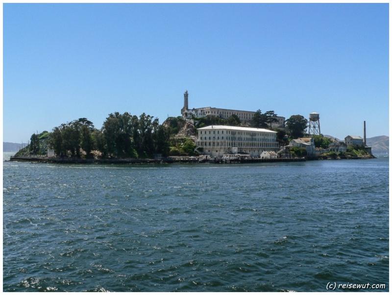 Alcatraz vom Boot aus gesehen