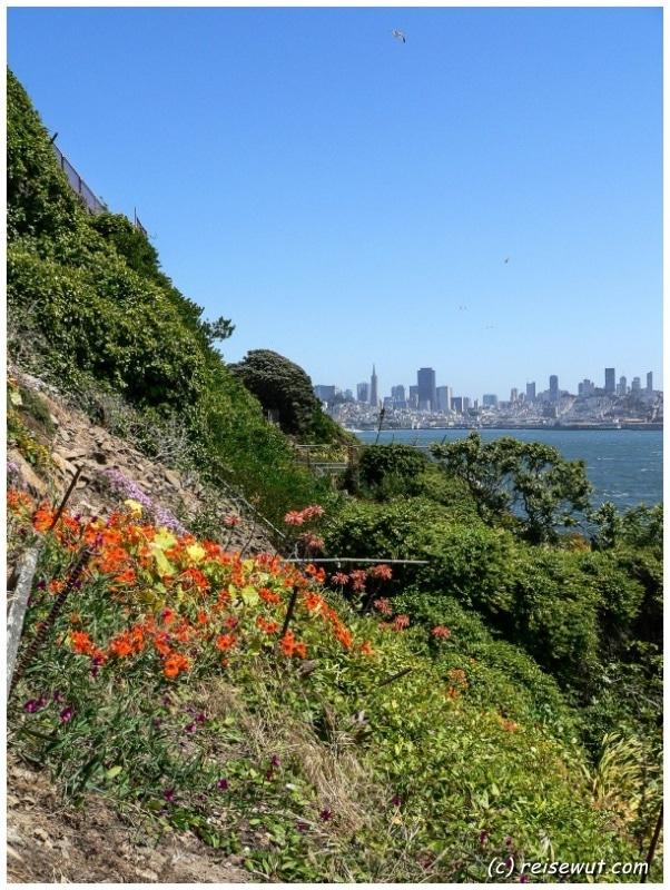 Aussicht von Alcatraz rüber nach San Francisco