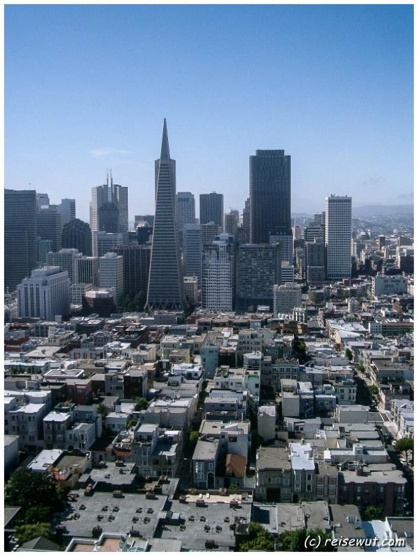 San Francisco vom Coit Tower aus gesehen