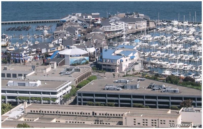 Pier 19 vom Coit Tower aus gesehen