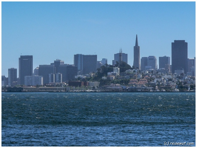 Blick von Alcatraz Richtung San Francisco