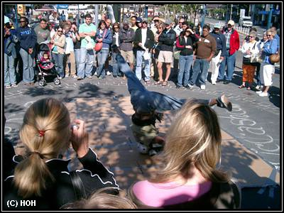 Breakdancer bei Fishermans Wharf