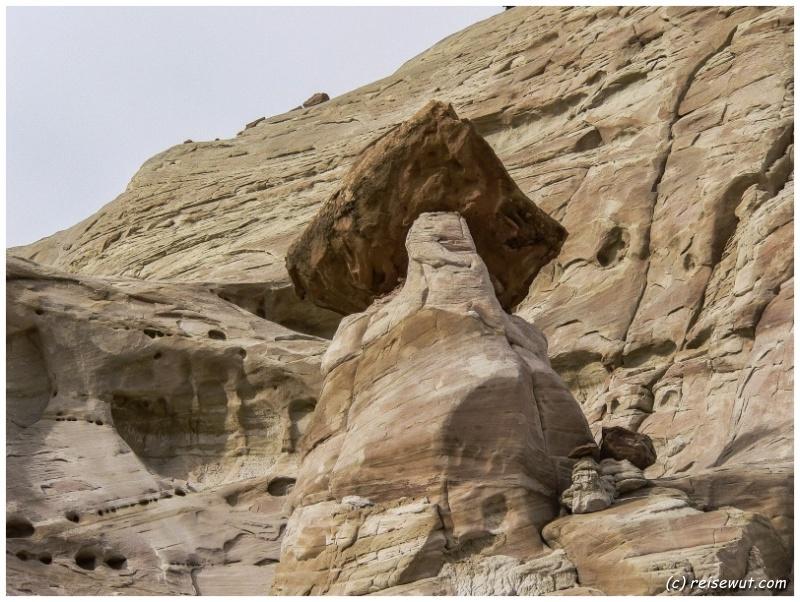 Gesteinsformation bei den Toadstool Hoodoos