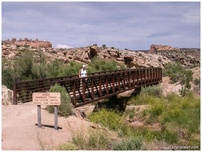 Der Delicate Arch Trail kurz hinter Wolfe Ranch