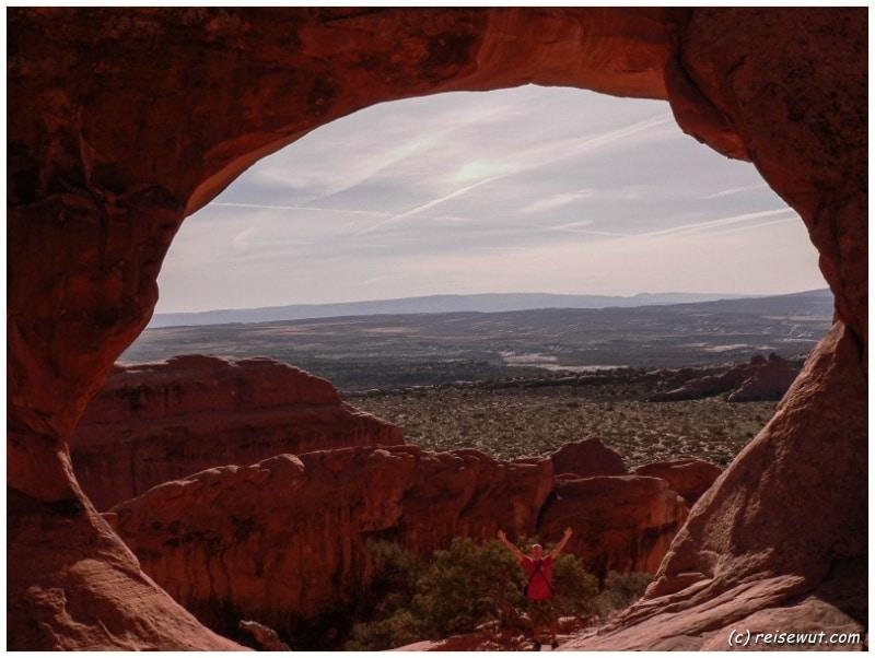 Partition Arch, von oben deutlich beeindruckender als von unten