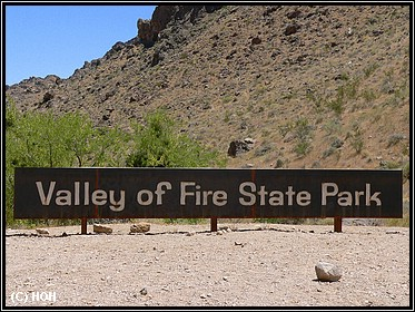 Entrance Valley of fire