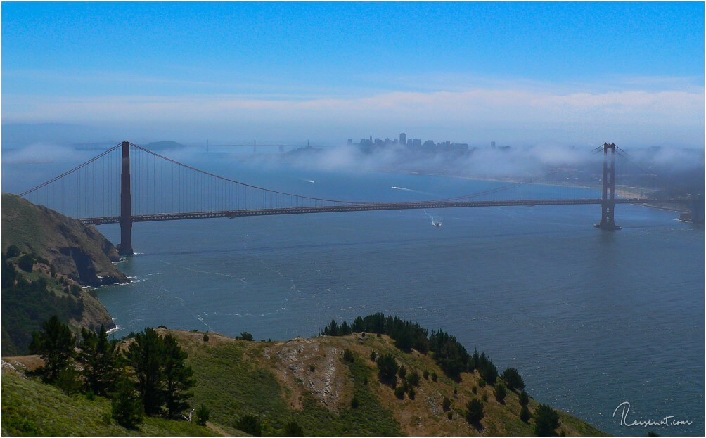 Die Golden Gate Bridge in San Francisco ist sicherlich eines des Highlights an der USA Westküste