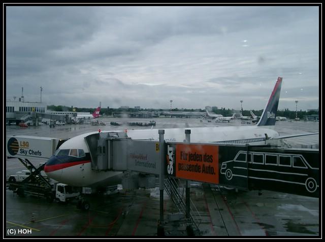 Duesseldorfer Flughafen mit Delta Airlines