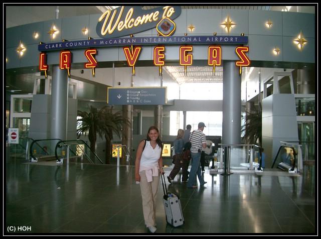 Ankunft am Flughafen Las Vegas