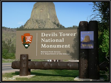 Devils Tower Eingang