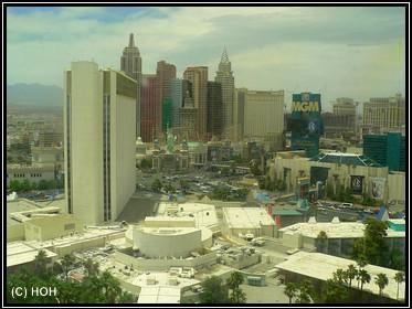Blick vom Hotelzimmer im Tropicana