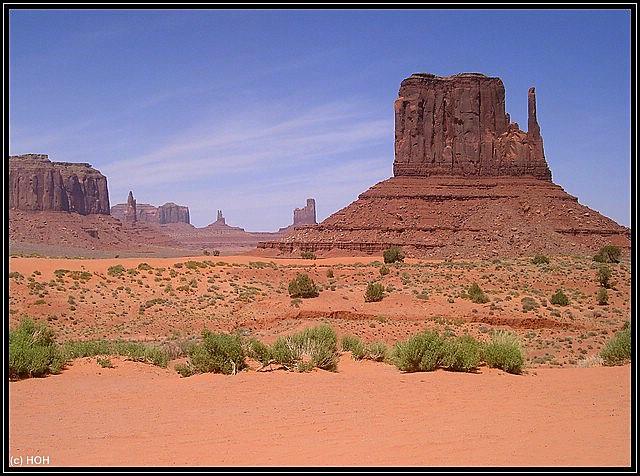 Klassische Ansicht im Monument Valley