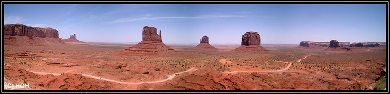Kayenta liegt hinter uns, willkommen im Monument Valley