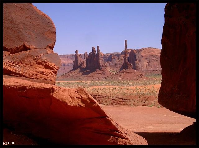 Auch am Totem Pole kommt man vorbei auf dem Loop durchs Monument Valley